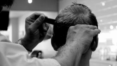 klippa håret själv kille