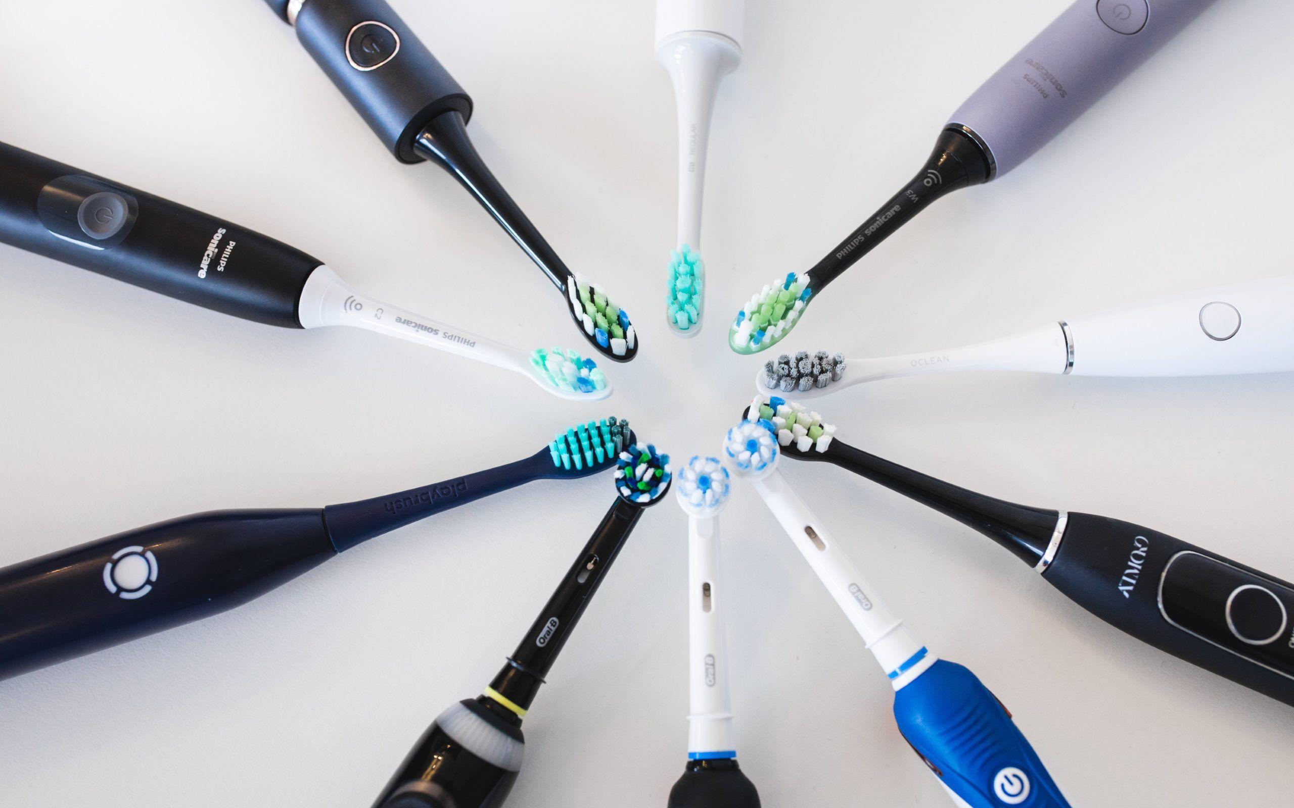 Cirkel av elektriska tandborstar