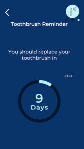 Eltandborste Oral-B Genius X app skarmdump