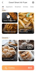 Air Fryer Cosor app screenshot