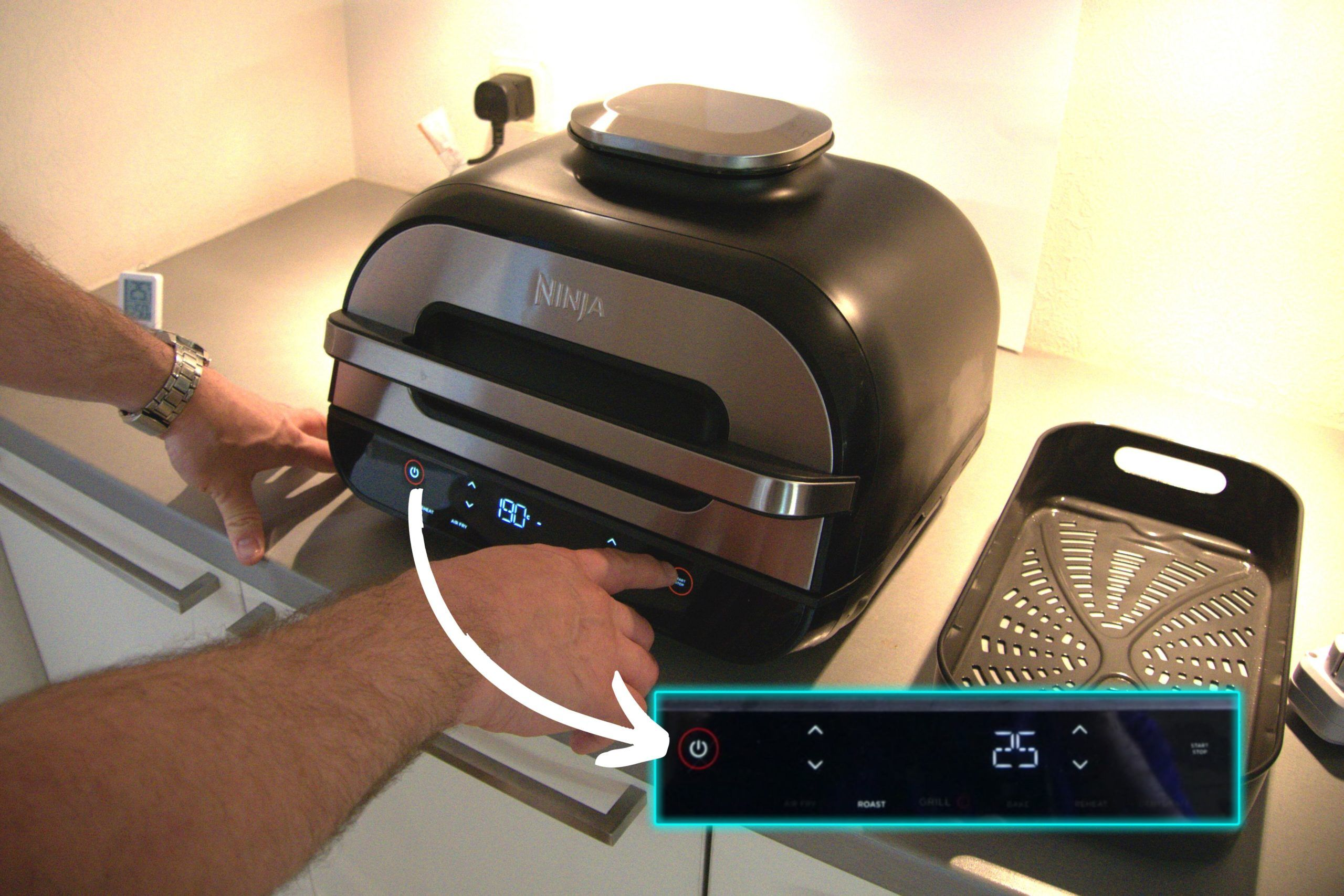 Ninja Foodi Max Health Grill & Air Fryer kontroller